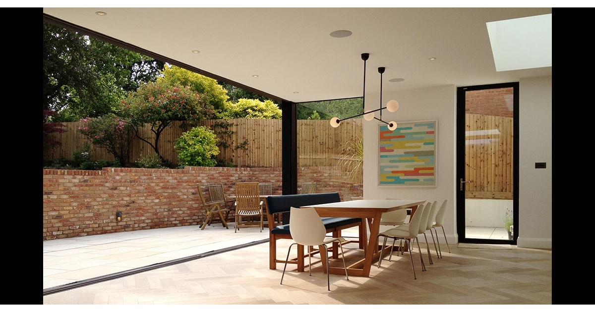 East Finchley Oversized Sliding Glass Doors Modern Extension | Projects | IQ Glass & East Finchley Oversized Sliding Glass Doors Modern Extension ...