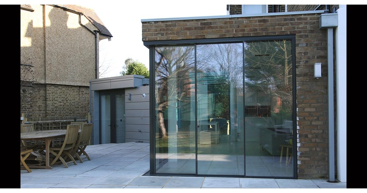Dovercourt Road Glass Roof And Sliding Glass Doors